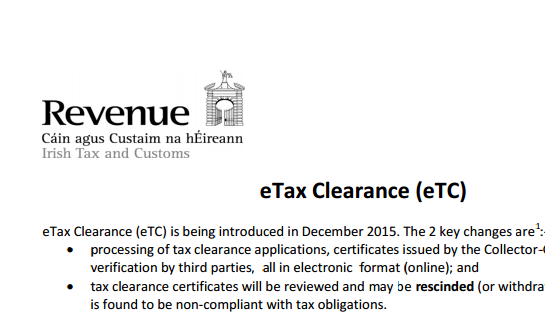 Tax clearance goes electronic
